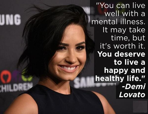 Demi Lovato Advises About Mental Health