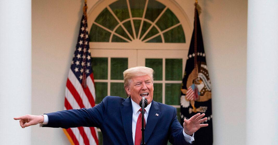 Trump talks about reopening the US amid coronavirus fight