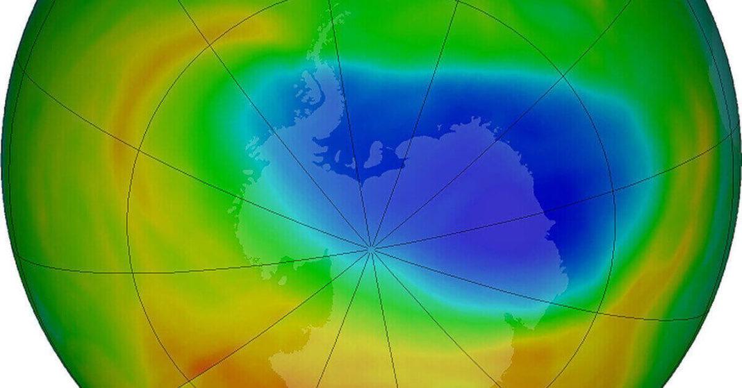 ozone depletion above Arctic hits