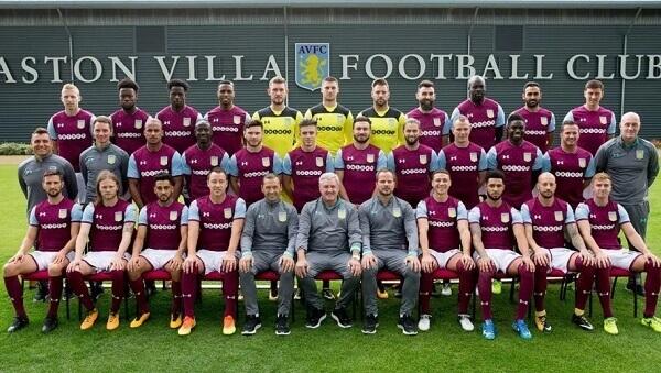 The players of Aston Villa
