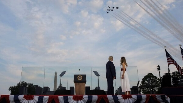 Donald Trump promises to beat 'left-wing politics' in the speech of 4th of July