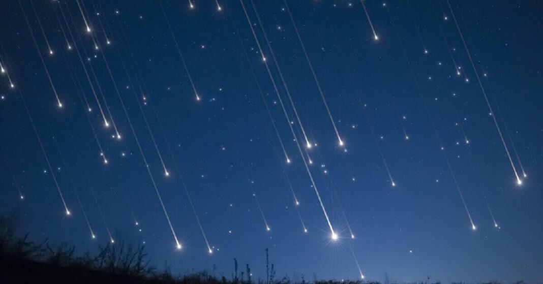 Meteor shower 2020 Delta Aquariids and Perseid