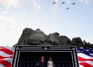 Trump vows to defeat 'radical left' in Independence Day speech