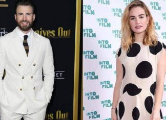 chris evans and lily james hotel photos london relationship dating rumors