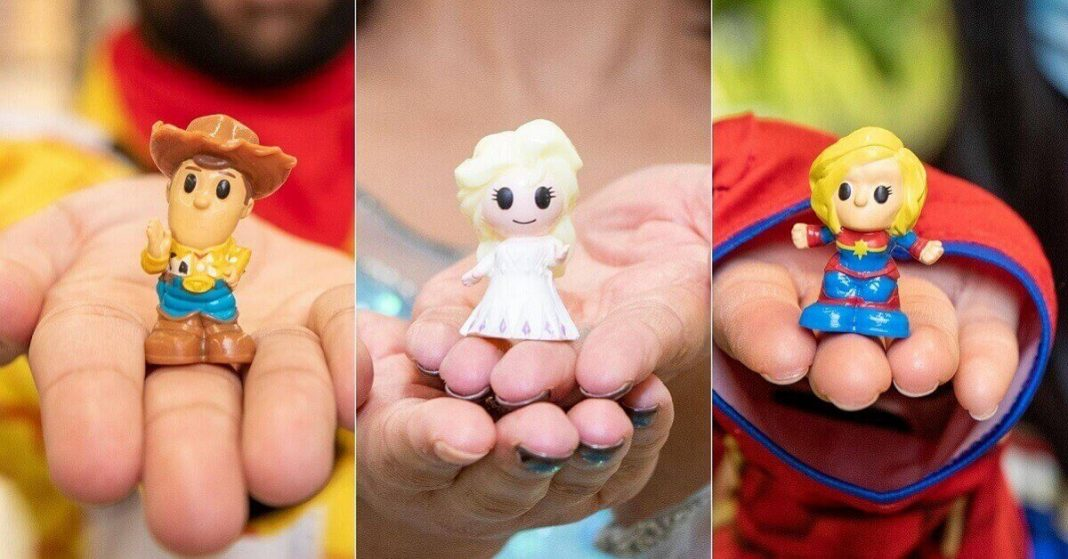 four rare Ooshies in Woolworths' new Disney collection