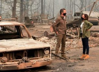 California family accuses Newsom, Harris of trespassing on property for wildfire photo-op