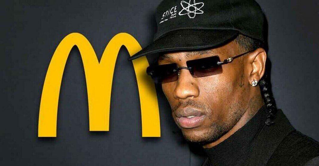 Travis Scott over McDonald's Menu Collaboration