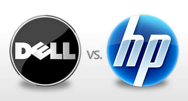 customer support comparison between hp and dell laptop