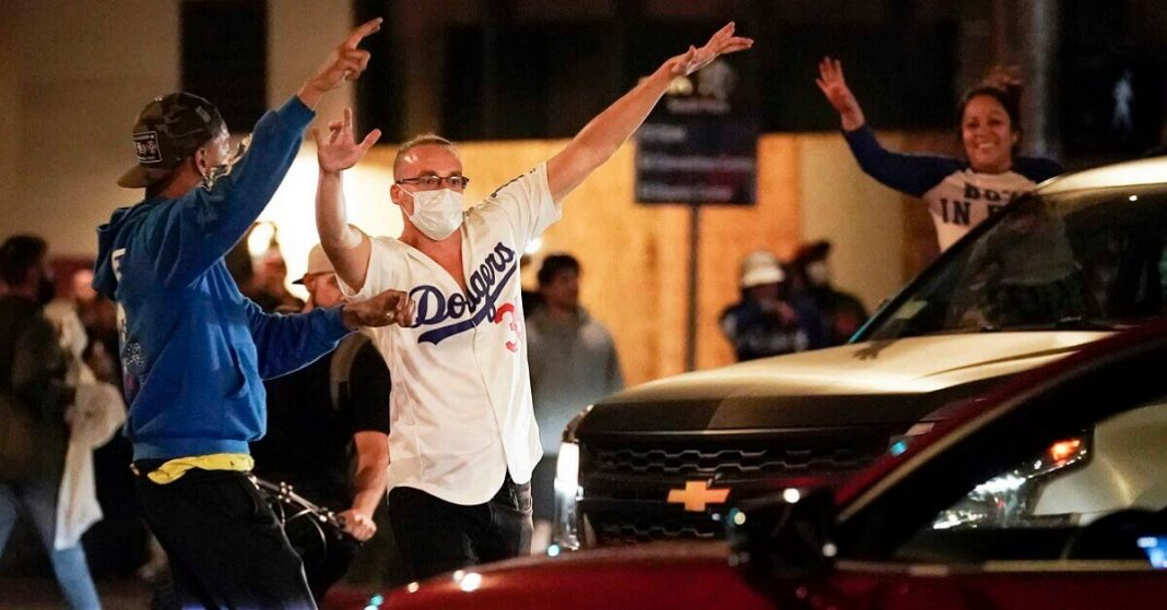 Celebrations by Dodgers' Fans Took a Chaotic Turn in Downtown, LA