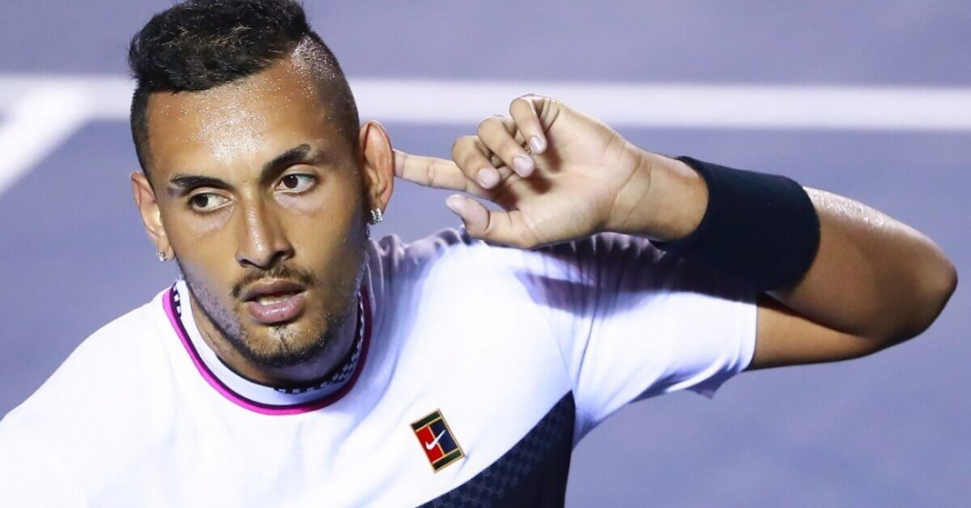 Nick Kyrgios admits that he got distracted by an attractive fan during a match