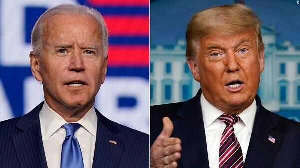 Trump and Biden conflict