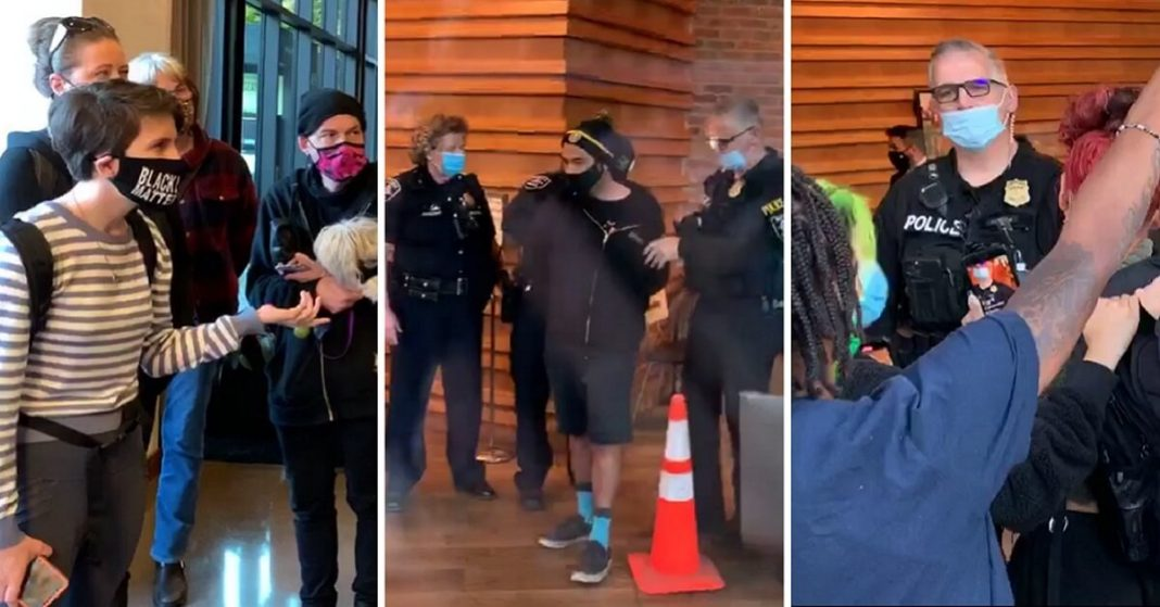 Leftists Storm News Station King-TV for Reporting about Rioters Being Arrested
