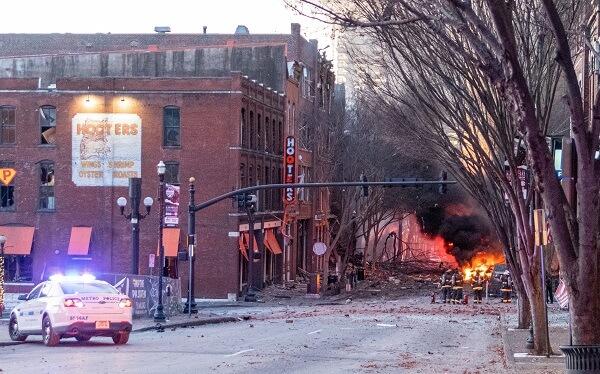 Explosion on Christmas in Nashville