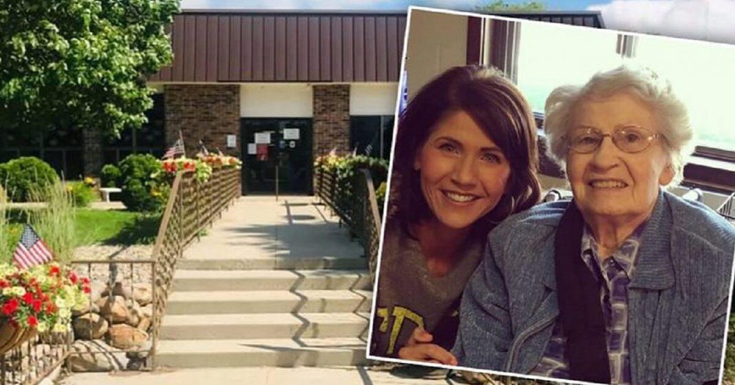 Governor Kristi Noem's Grandmother Dies at A Nursing Home
