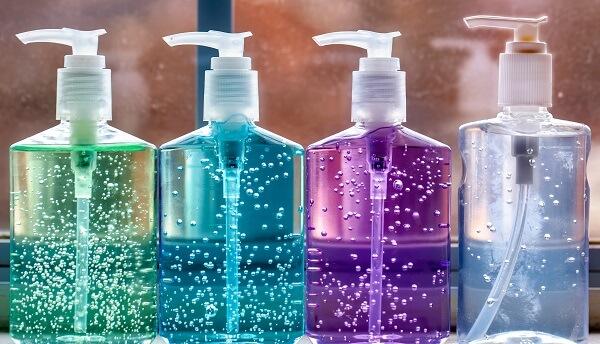 After Using Branded Hand Sanitizer