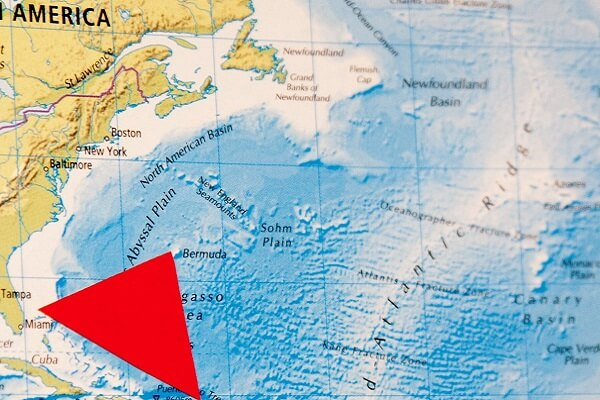 he Bermuda Triangle Located On The World Map