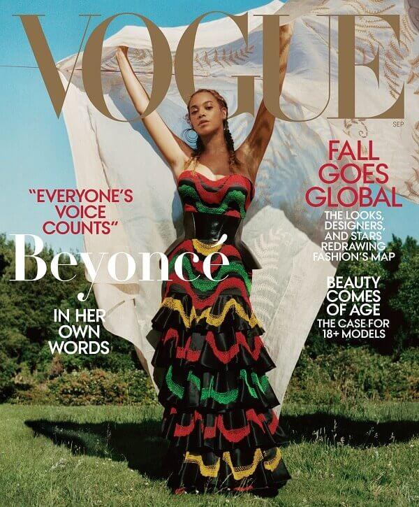 Beyoncé for Vogue in 2018