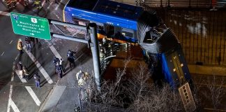 Bus Plunges off Bronx Bridge Passengers Hurt, Driver Seriously Injured-min