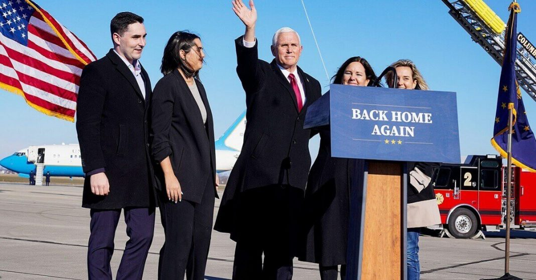 Mike Pence Wishes New President, Returns to Hometown Indiana, Says 'There's No Place Like Home'