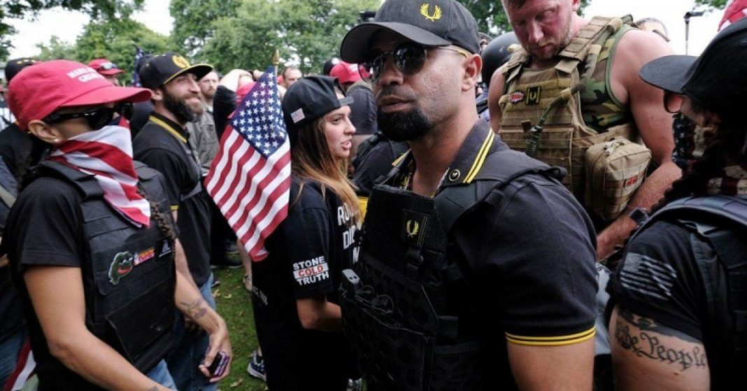Proud Boys leader banned