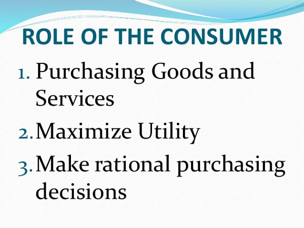 consumers role is US Economy