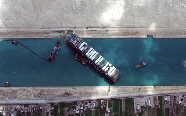 'Ever Given' - the stuck cargo ship in Suez Canal - refloats