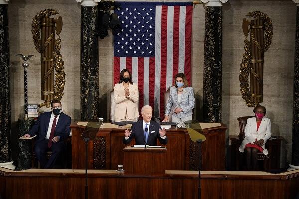 """America is on the move again,"" President Joe Biden"