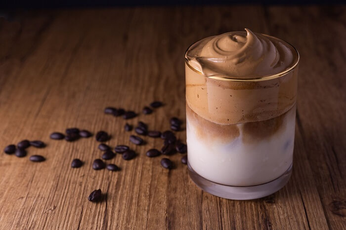 Equalizing the sugar and caffeine content of whipped coffee