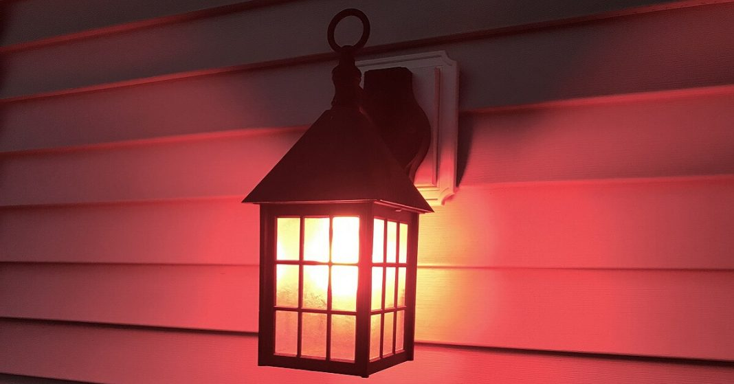 How people are using porch lights to create awareness and what does having a red porch light mean