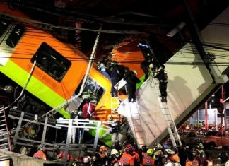 Mexico City's metro rail system collapse kills 23