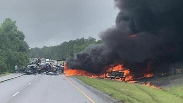 multi vehicle crash