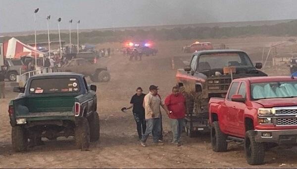 racetrack crash