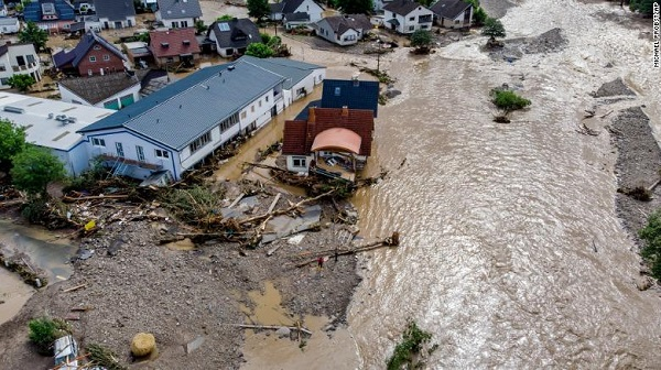 Deadly floods hit Western Europe – Germany the worst hit with more than 1300 people assumed missing