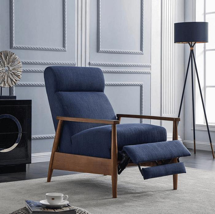 Mid-century modern fabric recliner