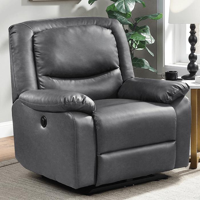 Push-button power recliner