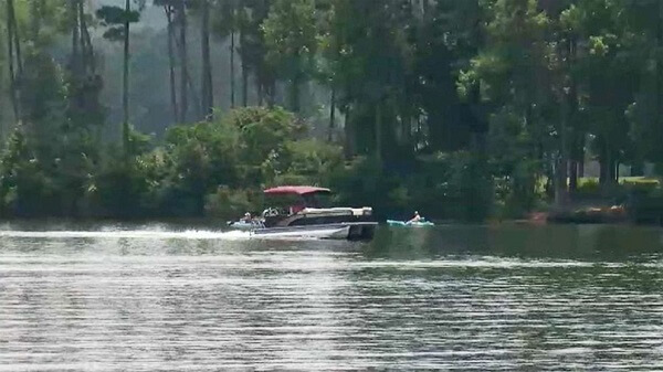 two boats collided with each other on Tobesofkee Lake