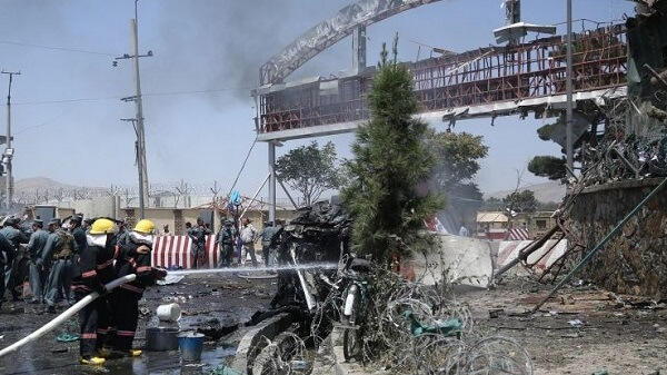 13 killed and several wounded in explosions outside Kabul airport