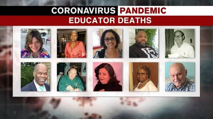 4 educators lost their lives to Covid within 2 days in Broward County, Florida as Gov. Desantis continues to deny the mask mandate
