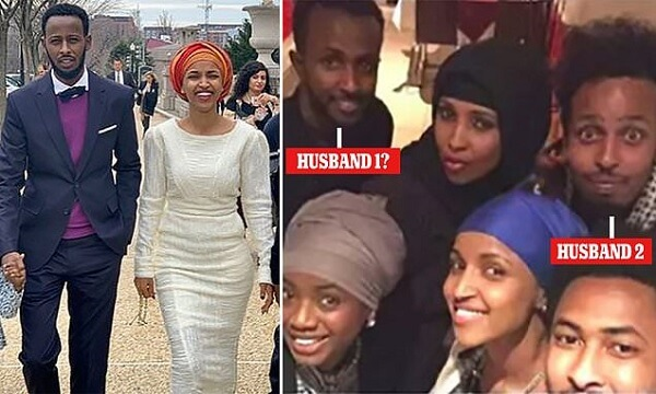 Ilhan Omer and her husband