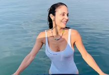 Bethenny Frankel soars up the sizzle-meter with her new body clinging swimsuit