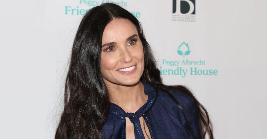 Demi Moore in One-Piece Bathing Suit Makes the Summer Red Hot
