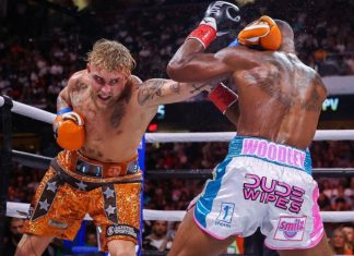Jake Paul laid out terms of a rematch for Tyron Woodley