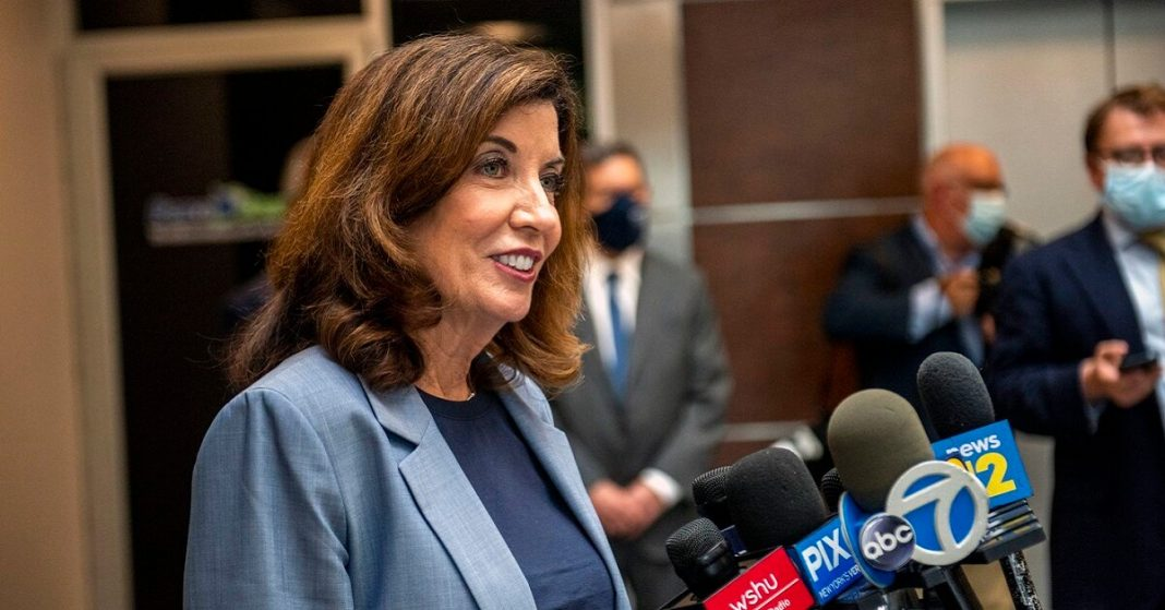 Kathy Hochul becomes the first female Governor