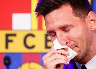 Lionel Messi bids a tearful farewell to Barcelona as PSG deal in picture