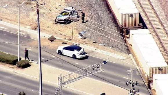 reight train & car leaves 12-year-old dead