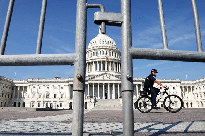 fencing outside the US Capitol