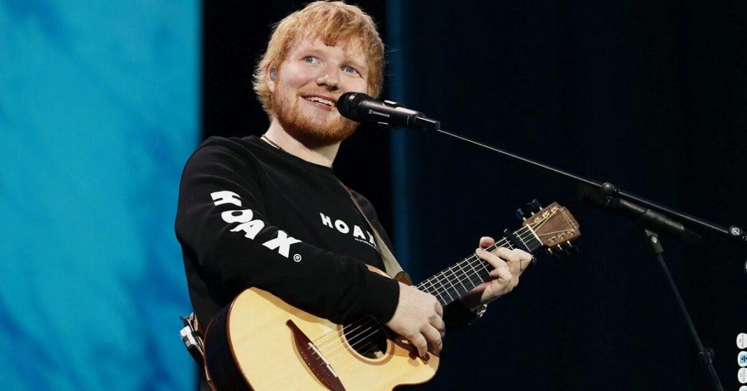 Ed Sheeran kickoff performance at NFL