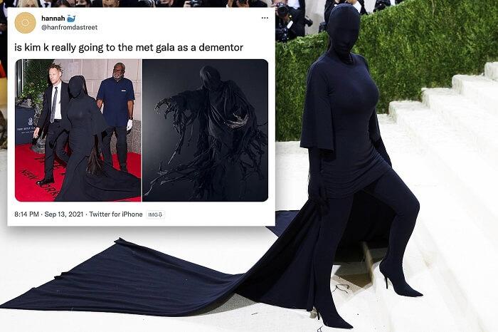 Kim Kardashian outfit Met Gala 2021