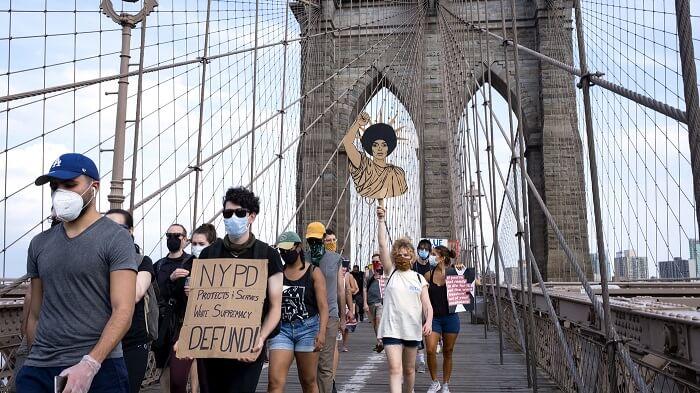 brooklyn bridge teachers protest