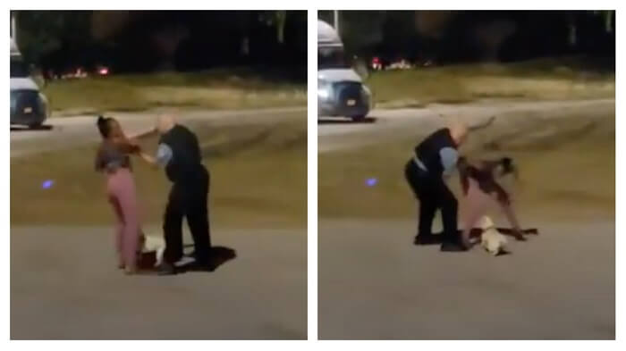 police officer attempted to tackle a Black Woman